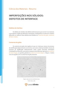 Defeitos de interface - Resumo