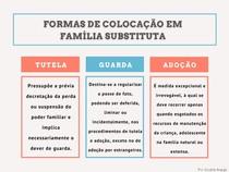 MAPA MENTAL- Formas de colocação em família substituta (direito da criança e adolescente )