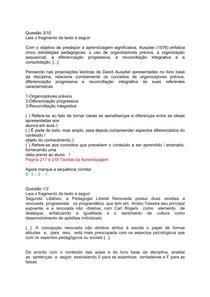 c31e18ed003 questoes psicologia - Psicologia da Educação - 2