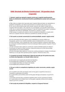 QUESTÕES DA OAB - DT. CONSTITUCIONAL