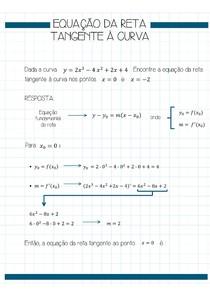Equação da reta tangente à curva