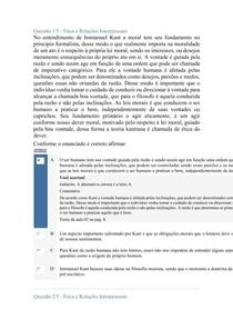 APOL 2 DE ETICA E RELAÇÕES INTERPESSOAIS