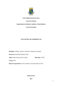 Relatório 3 - Volumetria de Oxiredução