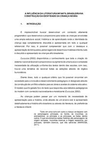 A INFLUÊNCIA DA LITERATURA INFANTIL BRASILEIRA NA CONSTRUÇÃO DA IDENTIDADE DA CRIANÇA NEGRA
