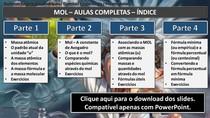 Massa atômica - Mol - Fórmulas: mínima e percentual