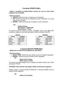 Banco SQL Delphi 7 - Comando UPDATE e DELETE FROM