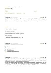 AV2 FÍSICA TEÓRICA III