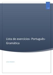 LISTA DE EXERCÍCIOS- Português para concursos/vestibulares