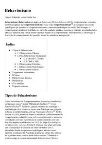 Behaviorismo – Wikipédia  a enciclopédia livre