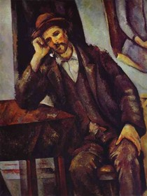 Paul Paul Cézanne - Man Smoking a Pipe