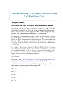 Questões resolvidas concordância nominal e crase