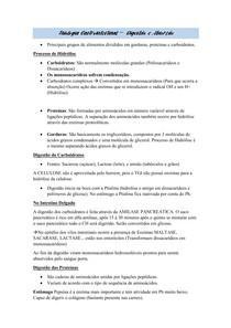 Fisiologia Gastrointestinal - Digestão e Absorção