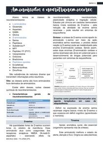 Aminoácidos e neurotransmissores- Bioquimica