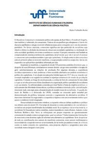 O Manifesto Comunista - Análise e crítica