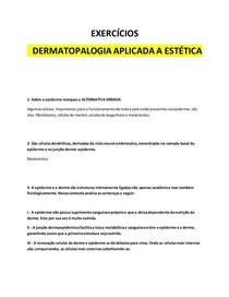 1 -DERMATOPALOGIA APLICADA A ESTETICA - PROVA