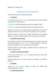 PROCESSO CIVIL 1 - ATOS PROCESSUAIS - INTERVENÇÃO DE TERCEIROS - EXTINÇÃO DO PROCESSO