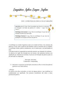 Linguística Aplica Língua Inglesa UNIT 2