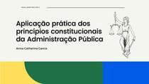Aplicação prática do princípios constitucionais da Administração Pública