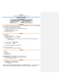 Infectologia - Endocardite infecciosa, Erisipela e Celulite, Meningites