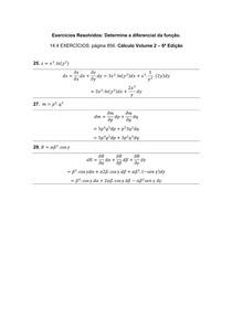 Exercícios Resolvidos _ Determine a diferencial da função