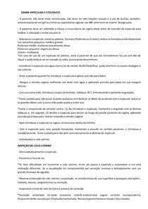 ROTEIRO Exame Especular e Citológico