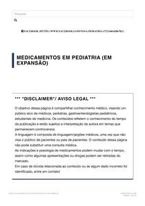 Medicamentos em pediatria _ Nova Pediatria