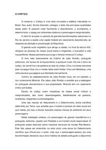 """RESUMO DE """"O CORTIÇO"""" DE ALUÍSIO DE AZEVEDO"""