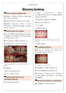 Alterações dentárias