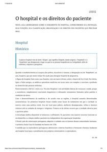 O hospital e os direitos do paciente