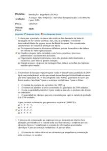 Avaliação Final(Objetiva)-Individual Semipresencial