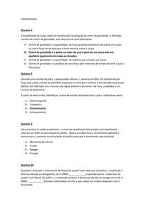 Cinesiologia AV2 ( banco de questão)