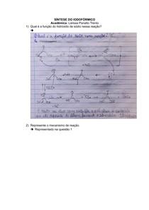 síntese do Iodofórmio