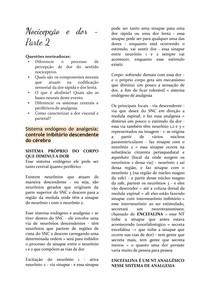 Nocicepção e dor - PARTE 2