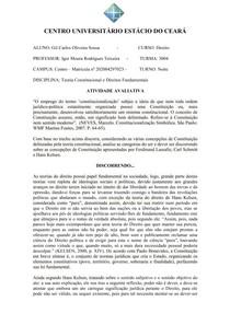 ATIVIDADE AVALIATIVA - AV1