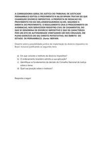 DIVORCIO IMPOSITIVO ESTUDO DE CASO
