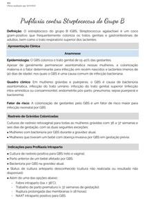 Profilaxia contra Streptococcus do Grupo B