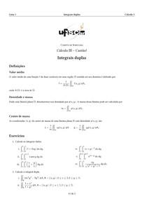 lista integrais duplas