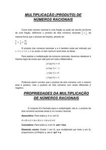 MULTIPLICAÇÃO de números racionais
