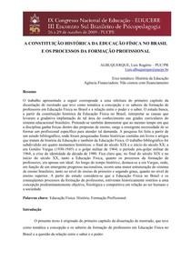 A CONSTITUIÇÃO HISTÓRICA DA EDUCAÇÃO FÍSICA NO BRASIL
