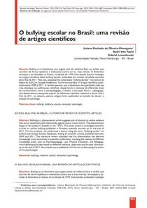 O bullying escolar no Brasil - uma revisão de artigos científicos