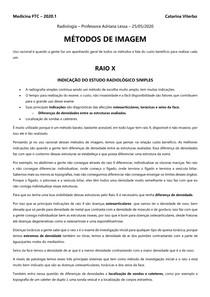 MÉTODOS DE IMAGEM - TRANSCRIÇÃO