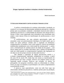 Drogas: legislação brasileira e violações a direitos fundamentais