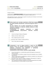 Exercicio de Fixação 06 - Materiais Eletricos