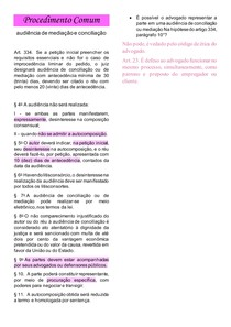 audiência mediação e conciliação - processo comum