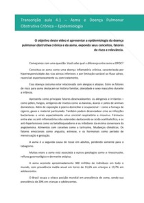 Asma e DPOC - Epidemiologia