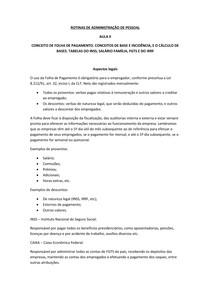 ROTINAS DE ADMINISTRAÇÃO DE PESSOAL aula 2