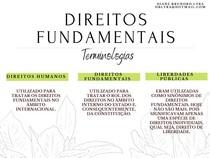 DIREITO FUNDAMENTAIS: TERMINOLOGIAS (direitos humanos, liberdades públicas)