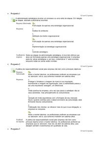 QUESTOES II E AVALIAÇÃO - PRINCIPIOS BASICOS DE ADM