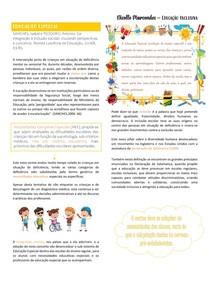 RESUMO EDUCAÇÃO INCLUSIVA - Educação especial
