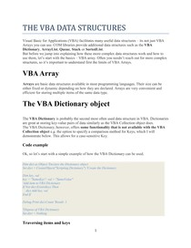 THE-VBA-DATA-STRUCTURES